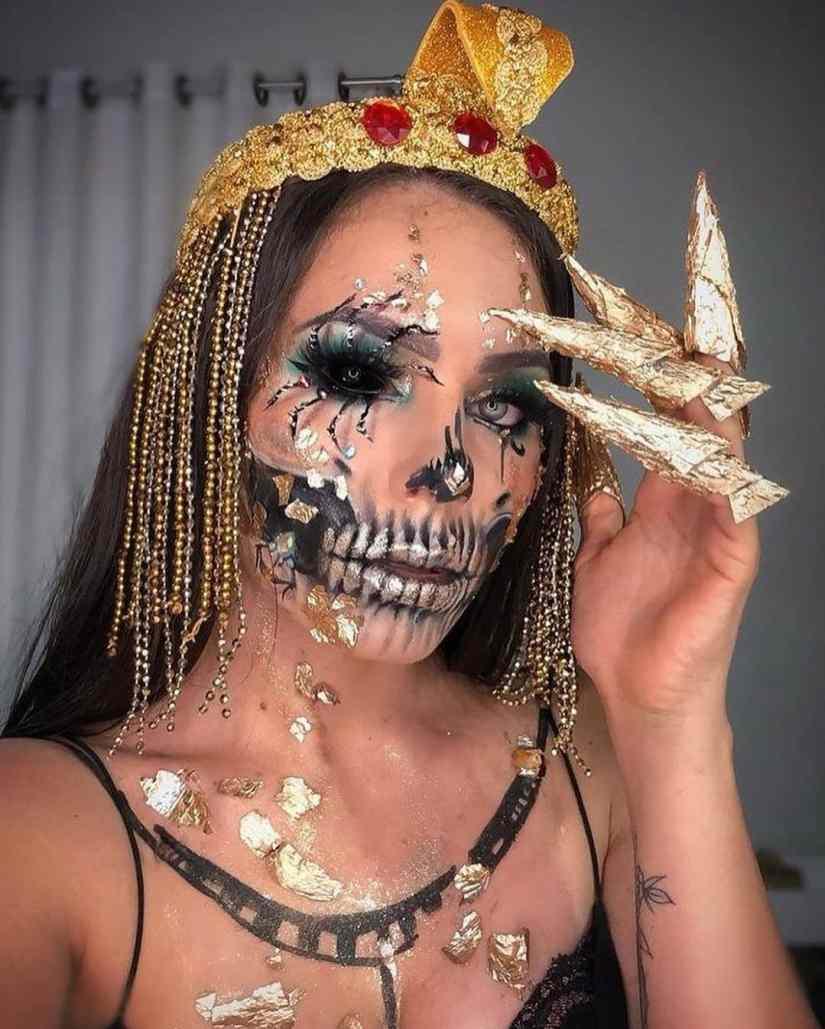 spider makeup 2020090710 - 20+ Creepy Spider Makeup for Halloween 2020