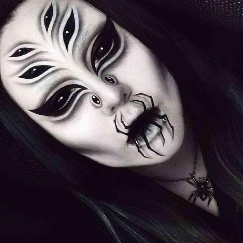 spider makeup 2020090711 - 20+ Creepy Spider Makeup for Halloween 2020