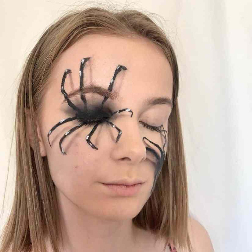 spider makeup 2020090723 - 20+ Creepy Spider Makeup for Halloween 2020