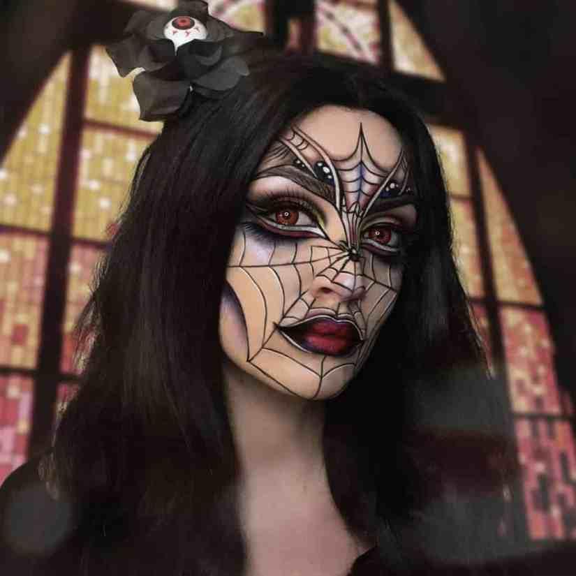 spider makeup 2020090729 - 20+ Creepy Spider Makeup for Halloween 2020