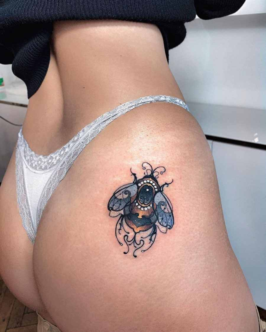 Bumblebee Tattoo 2020102601 - 20+ Attractive Bumblebee Tattoo Designs and Meanings
