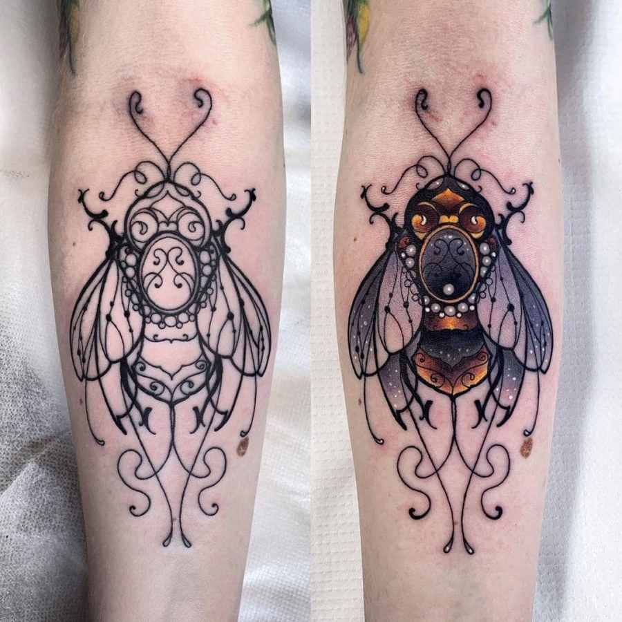 Bumblebee Tattoo 2020102602 - 20+ Attractive Bumblebee Tattoo Designs and Meanings