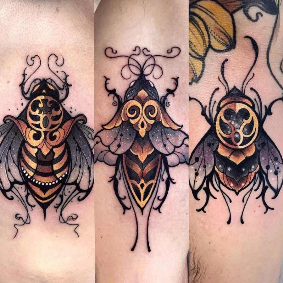 Bumblebee Tattoo 2020102603 - 20+ Attractive Bumblebee Tattoo Designs and Meanings