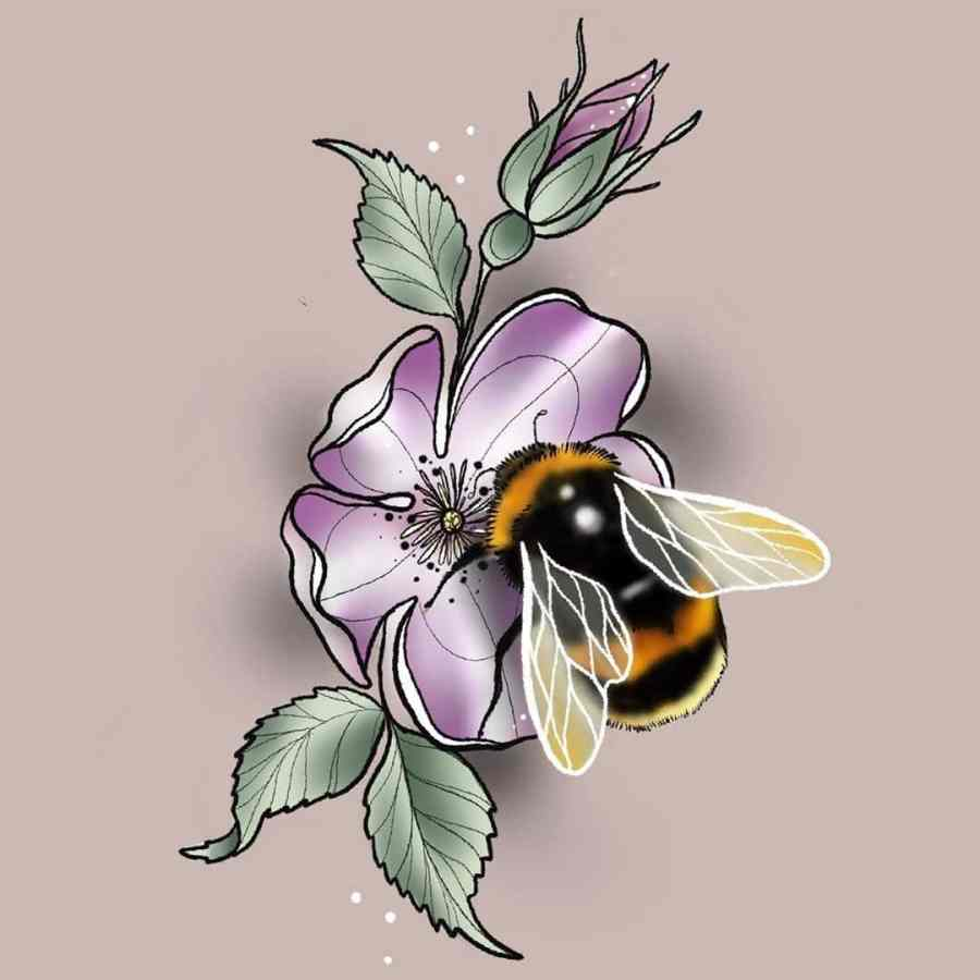 Bumblebee Tattoo 2020102614 - 20+ Attractive Bumblebee Tattoo Designs and Meanings