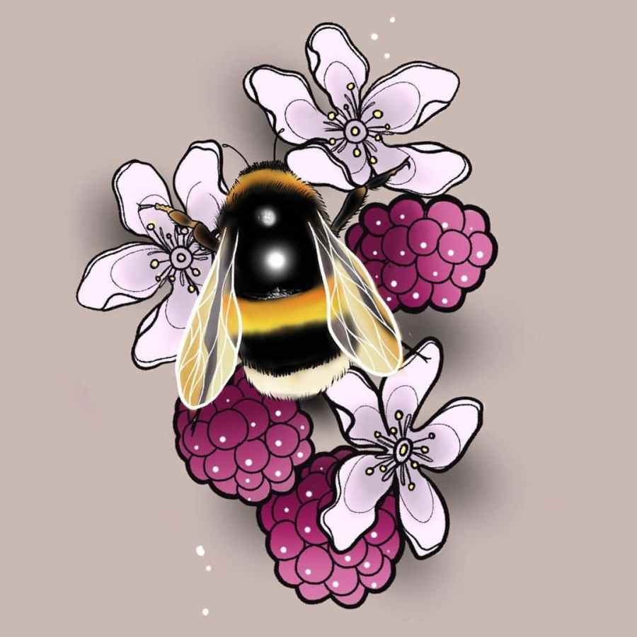 Bumblebee Tattoo 2020102615 - 20+ Attractive Bumblebee Tattoo Designs and Meanings