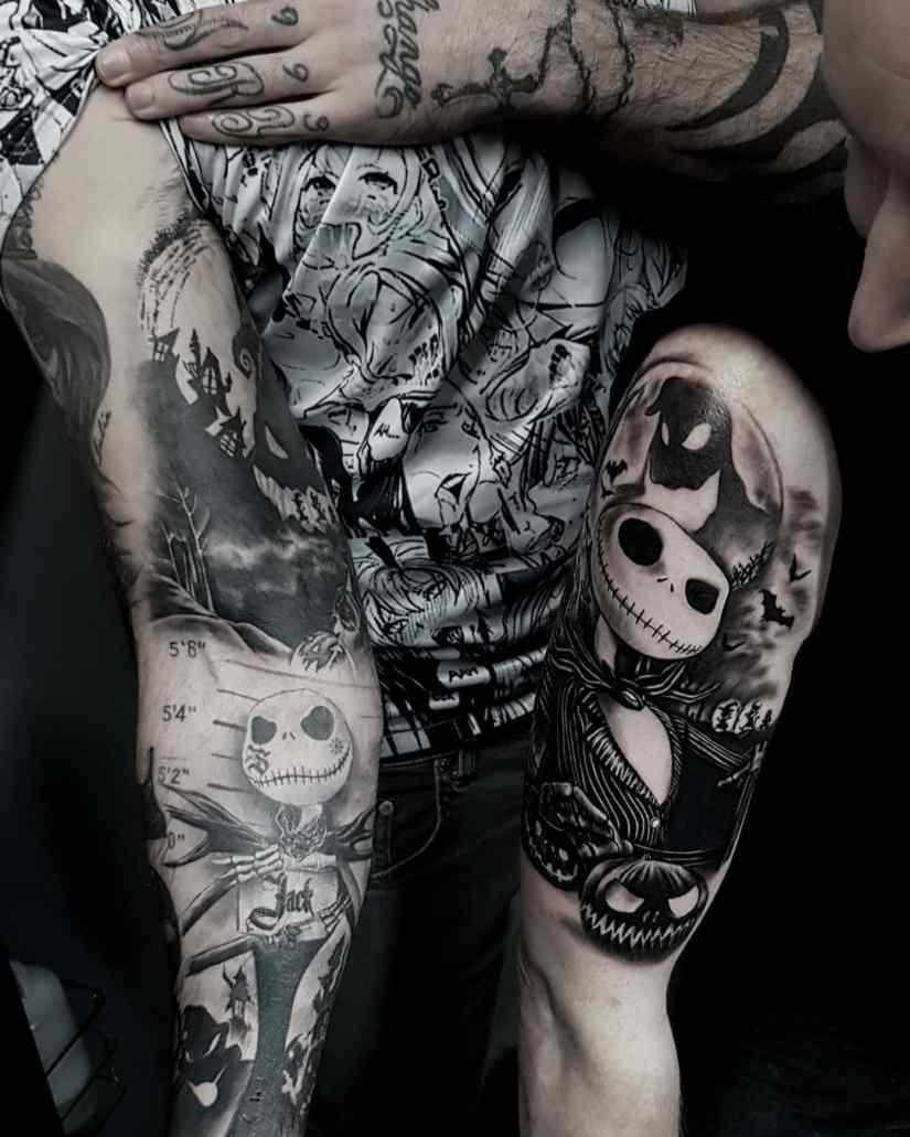 Jack Skellington Tattoos and Sally Tattoos 2020101213 - 20+ Jack Skellington Tattoos and Sally Tattoos