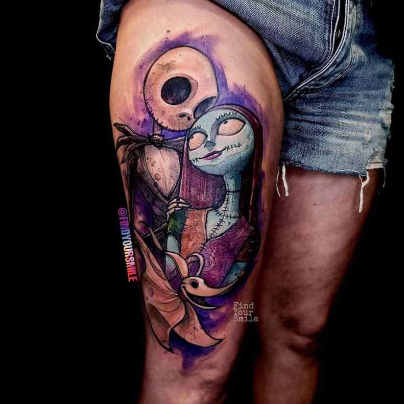 Jack Skellington Tattoos and Sally Tattoos 2020101217 - 20+ Jack Skellington Tattoos and Sally Tattoos