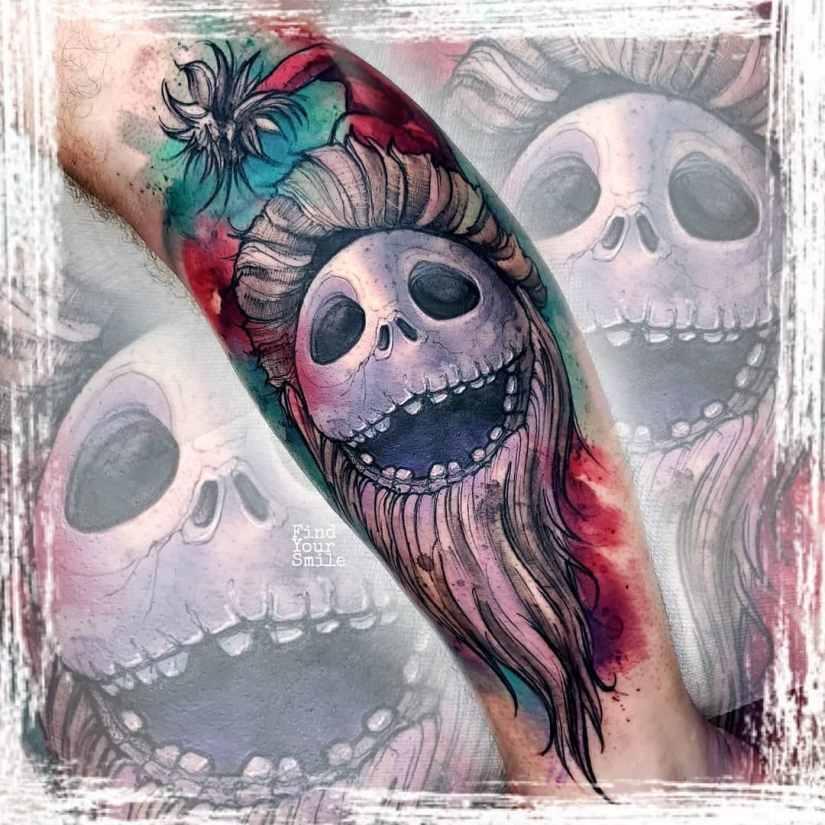 Jack Skellington Tattoos and Sally Tattoos 2020101219 - 20+ Jack Skellington Tattoos and Sally Tattoos