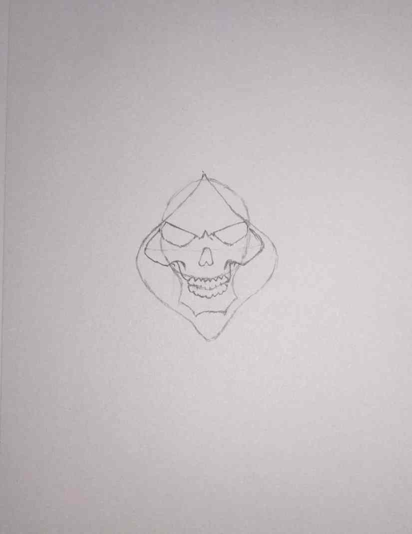 draw grim reaper 2020101507 - How to Draw Grim Reaper Face - Step by Step Tutorial