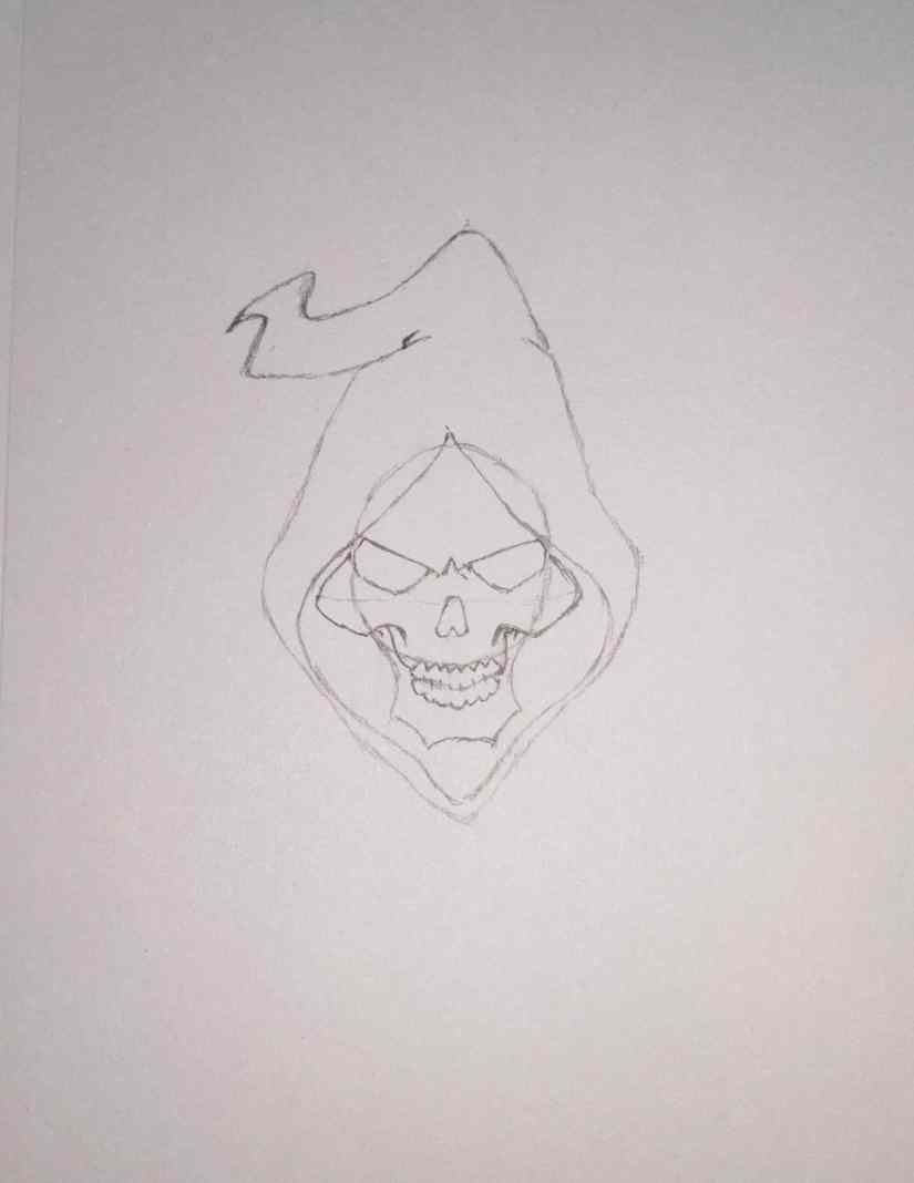 draw grim reaper 2020101508 - How to Draw Grim Reaper Face - Step by Step Tutorial