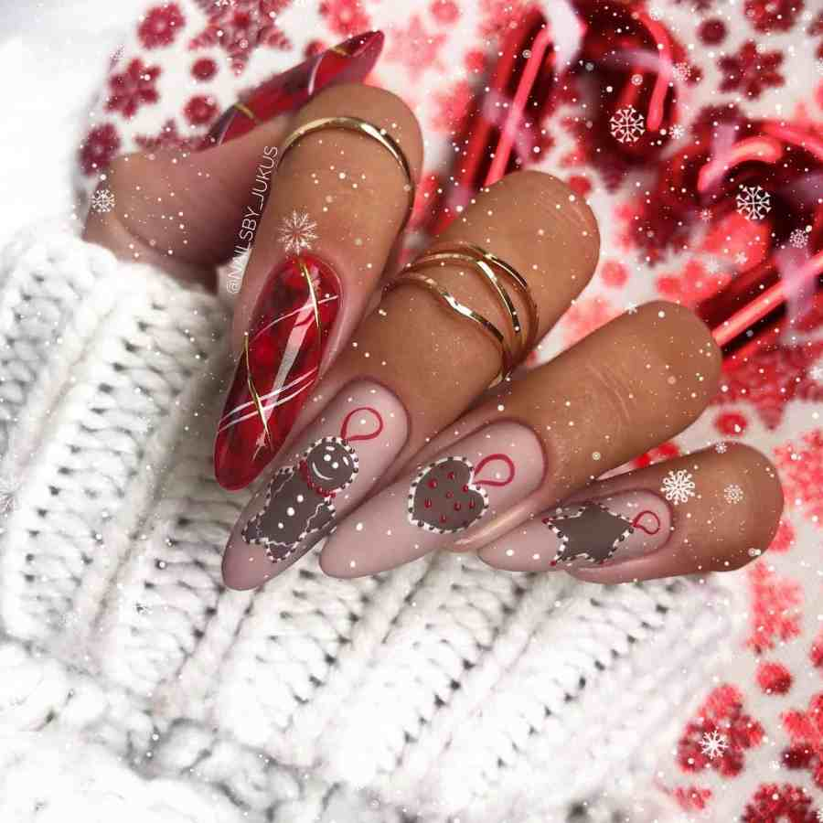 Christmas nails 2020112305 - Gorgeous Christmas Nails 2020 Best Holiday Atmosphere