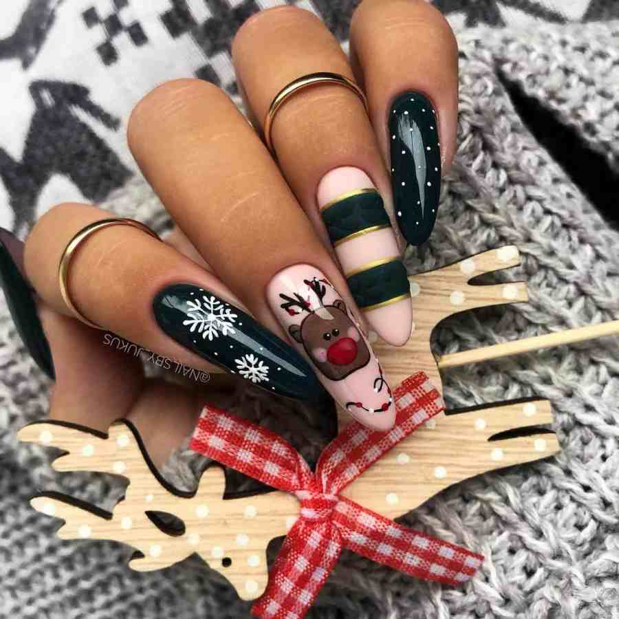 Christmas nails 2020112306 - Gorgeous Christmas Nails 2020 Best Holiday Atmosphere