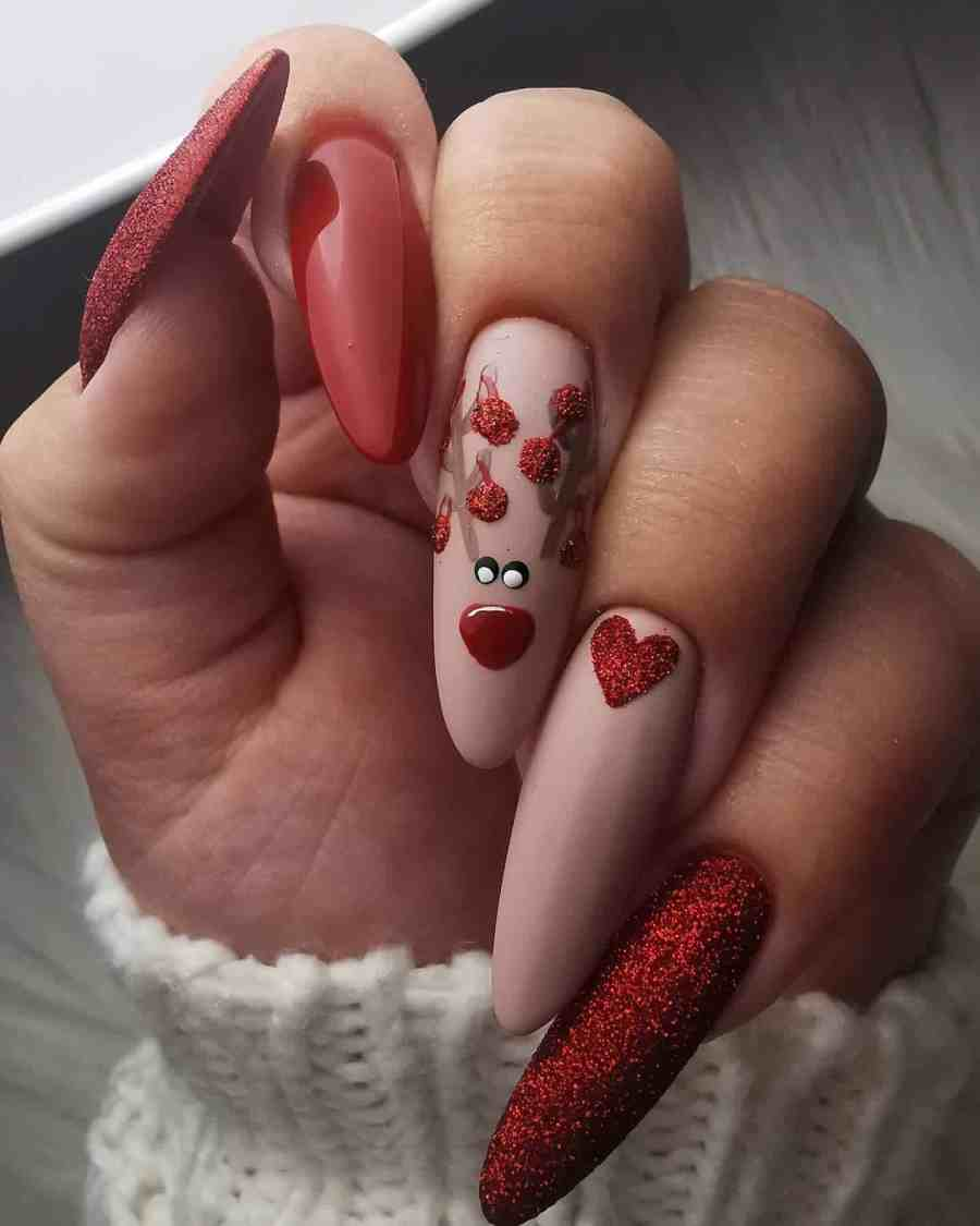 Christmas nails 2020112315 - Gorgeous Christmas Nails 2020 Best Holiday Atmosphere