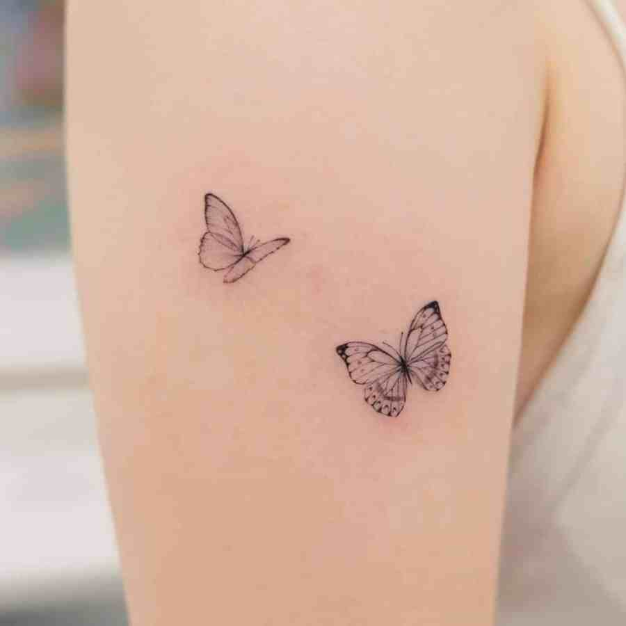 Small Butterfly Tattoo 2020110907 - 20+ Cute Small Butterfly Tattoo Designs and Ideas