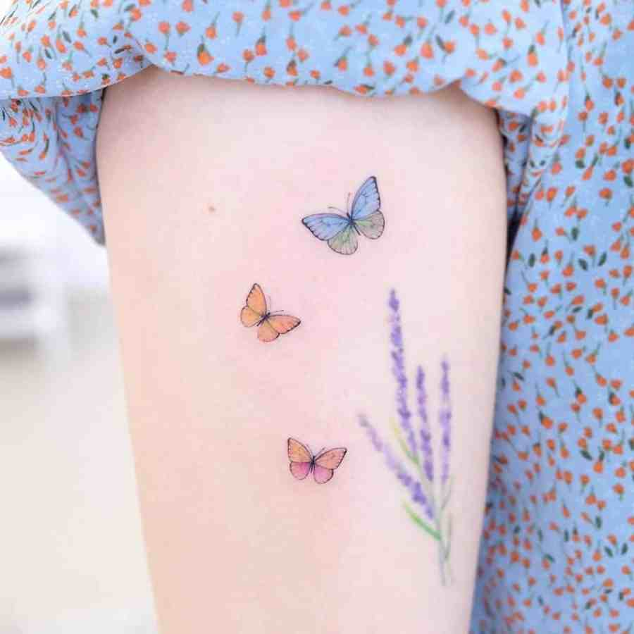 Small Butterfly Tattoo 2020110909 - 20+ Cute Small Butterfly Tattoo Designs and Ideas