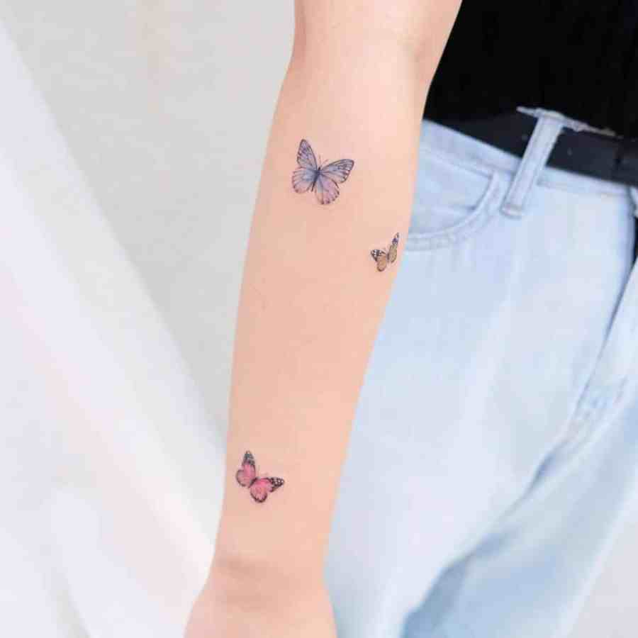 Small Butterfly Tattoo 2020110910 - 20+ Cute Small Butterfly Tattoo Designs and Ideas