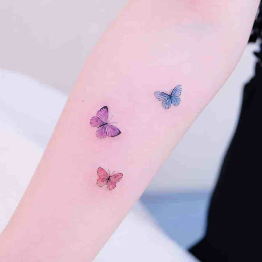 Small Butterfly Tattoo 2020110912 - 20+ Cute Small Butterfly Tattoo Designs and Ideas
