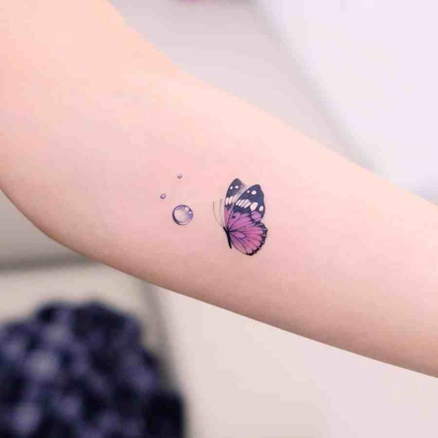 Small Butterfly Tattoo 2020110913 - 20+ Cute Small Butterfly Tattoo Designs and Ideas