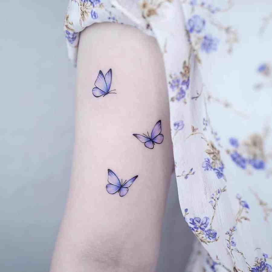 Small Butterfly Tattoo 2020110924 - 20+ Cute Small Butterfly Tattoo Designs and Ideas
