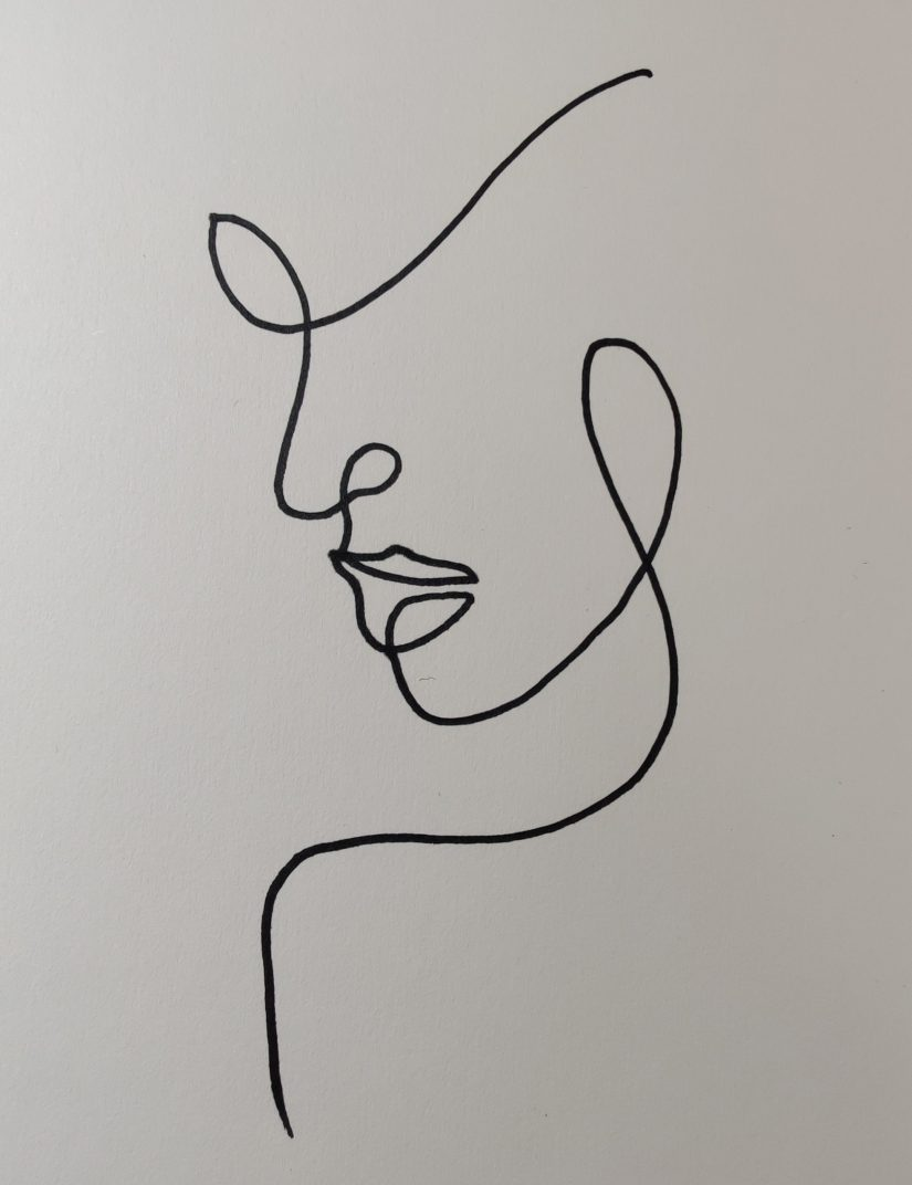 One line drawing face 202102181133 scaled - Learn How to One Line Drawing Face