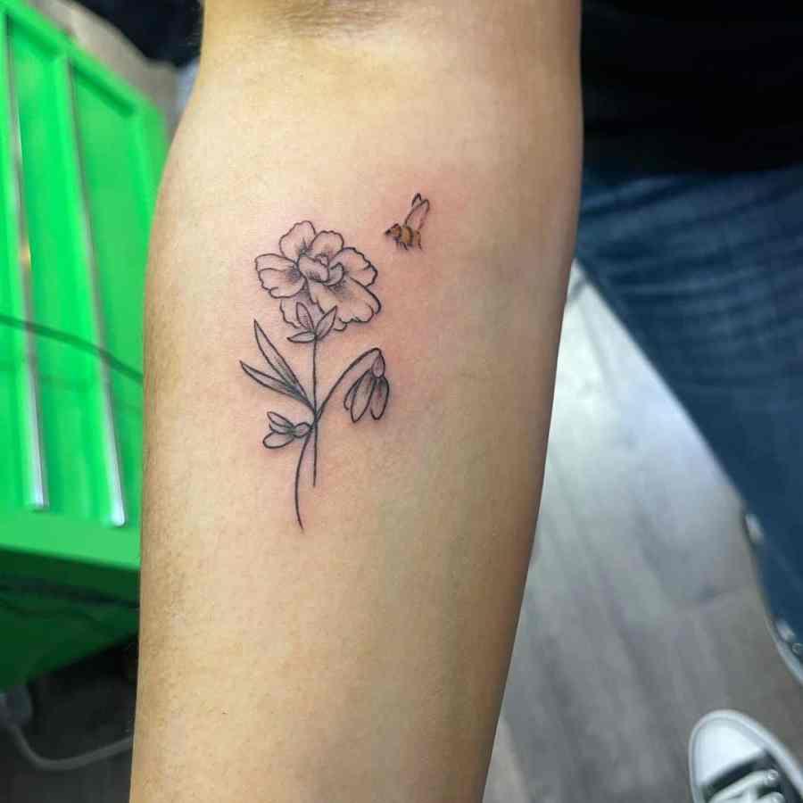 Carnation Tattoo 2021061503 - January Birthday Flower Tattoo - Carnation Tattoo