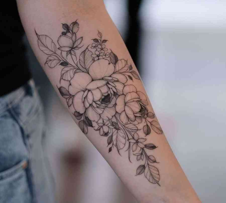 Floral Tattoo 2021061001 - 10+ Floral Tattoo Designs to Give You Warmth