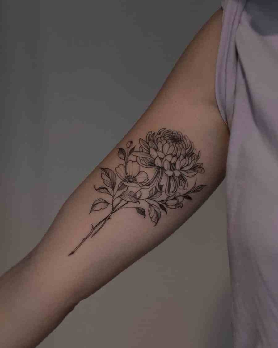 Floral Tattoo 2021061003 - 10+ Floral Tattoo Designs to Give You Warmth