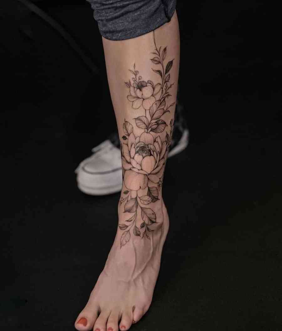 Floral Tattoo 2021061010 - 10+ Floral Tattoo Designs to Give You Warmth