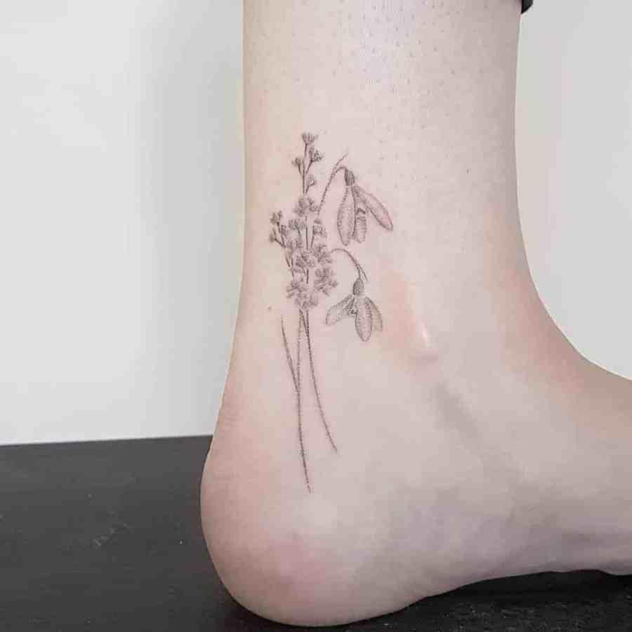 January Birth Flower Tattoo 2021061903 - January Birth Flower Tattoo - Snowdrop Tattoo