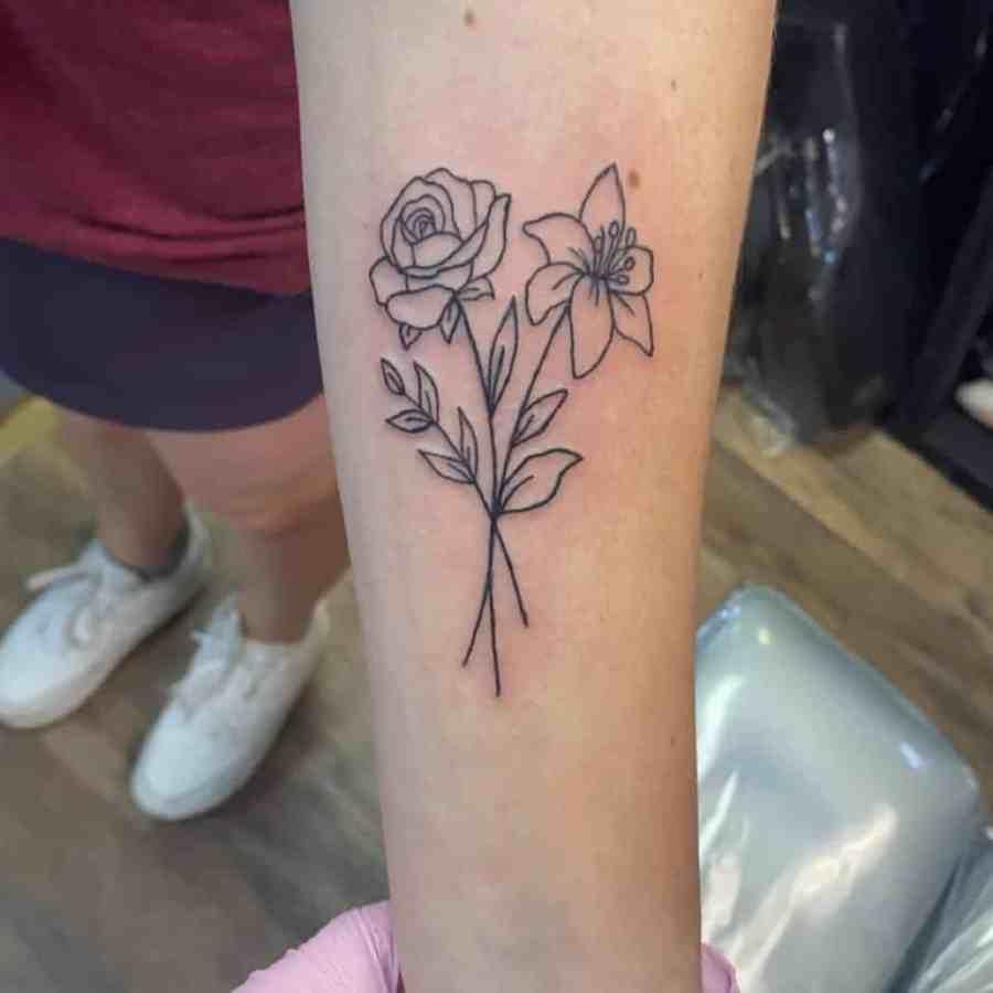 Daffodil Tattoo 2021070402 - March Birth Flower Tattoo - Daffodil Tattoo