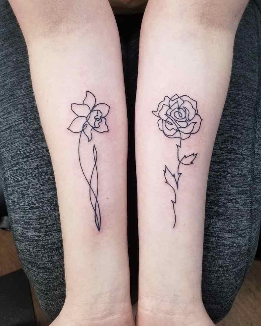 Daffodil Tattoo 2021070403 - March Birth Flower Tattoo - Daffodil Tattoo