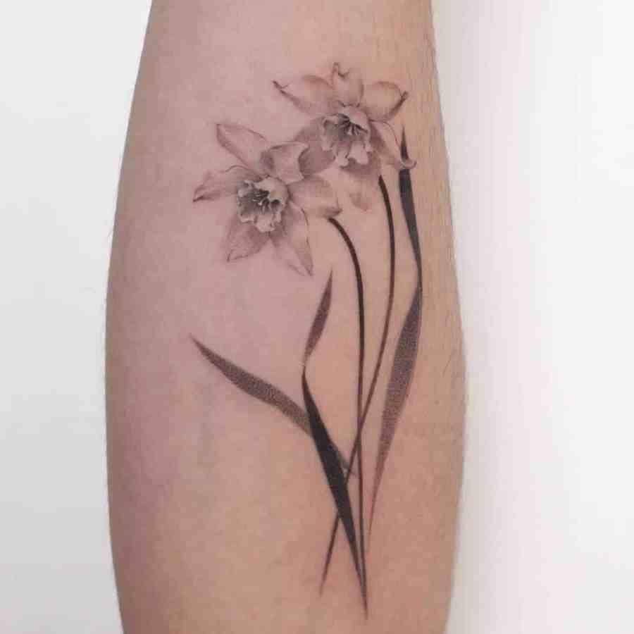Daffodil Tattoo 2021070404 - March Birth Flower Tattoo - Daffodil Tattoo