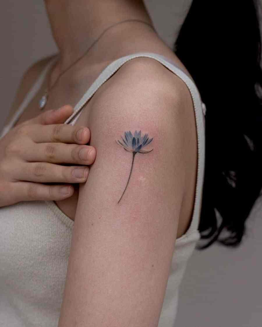 July Birth Flower Tattoos 2021072801 - July Birth Flower Tattoos: Water lily Tattoo & Delphinium