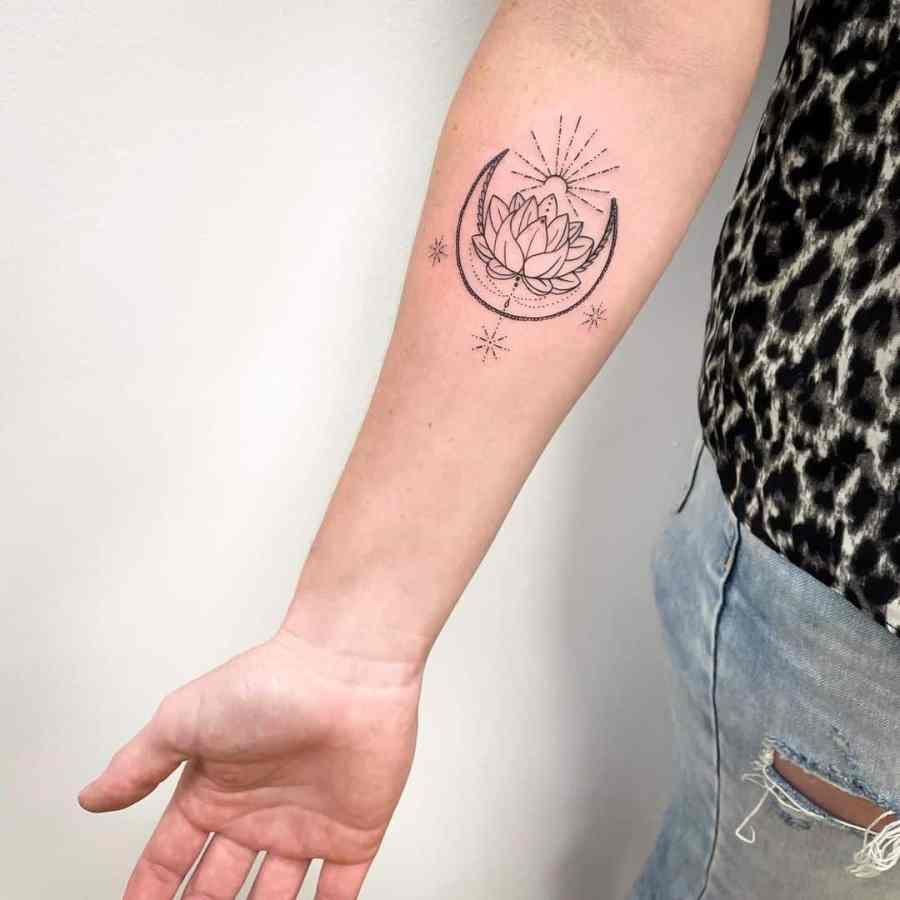 July Birth Flower Tattoos 2021072803 - July Birth Flower Tattoos: Water lily Tattoo & Delphinium