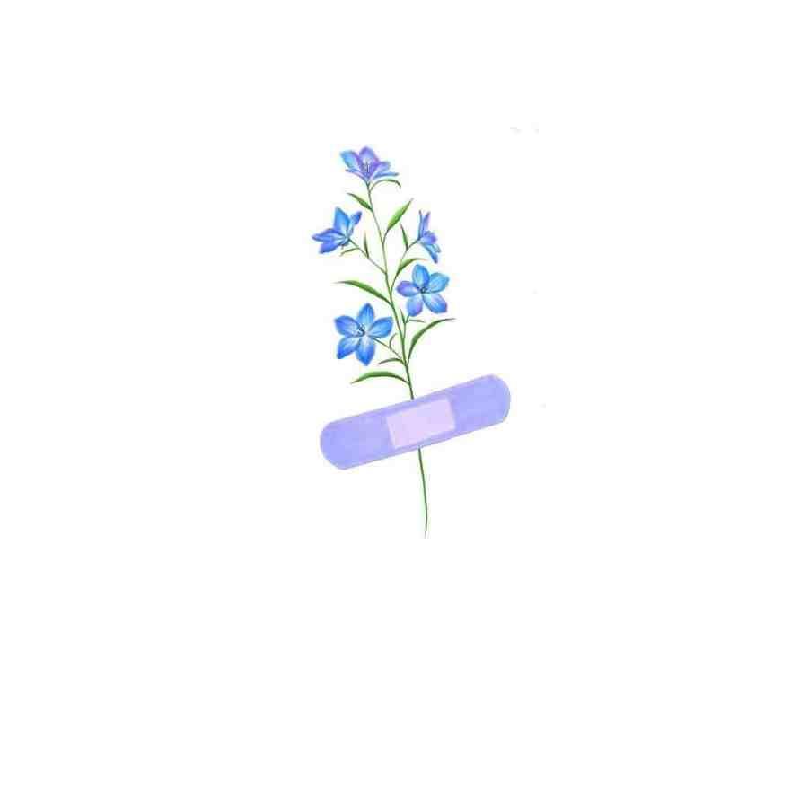 July Birth Flower Tattoos 2021072807 - July Birth Flower Tattoos: Water lily Tattoo & Delphinium