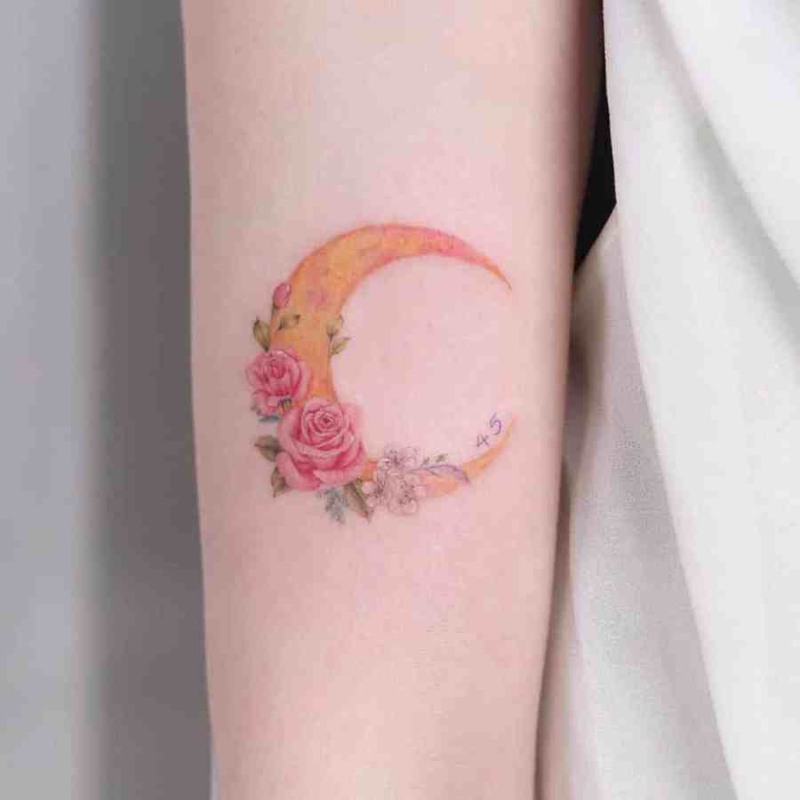 May Birth Flower Tattoos 2021072406 - May Birth Flower Tattoos: Bellflower and Hawthorn Tattoo
