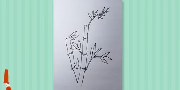 One line drawing Bamboo-20210702013
