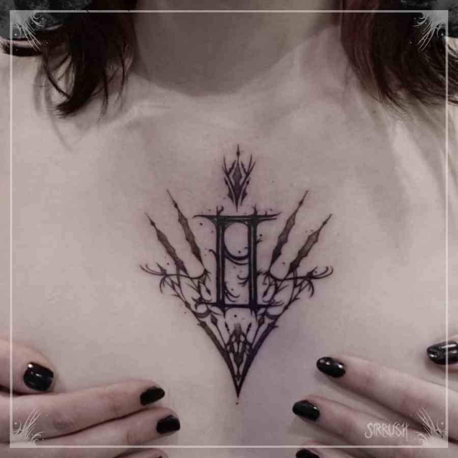 Gemini Tattoo 2021083007 - The Best Gemini Tattoo and Meaning