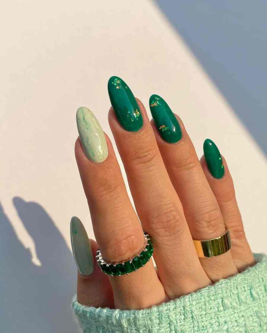 Green Nails 2021082211 - The Most Fashionable Green Nails to Impress You