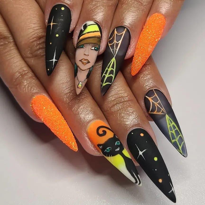 Halloween Nail Art 2021091917 - 20 Halloween Nail Art Designs Easy to Copy