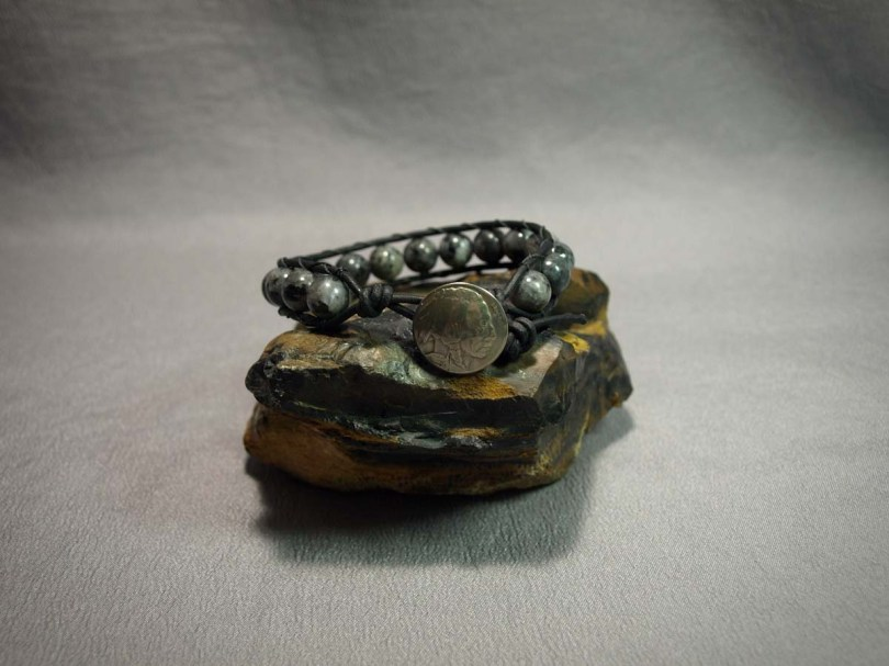 Single wrap bracelet 10mm Larvikite