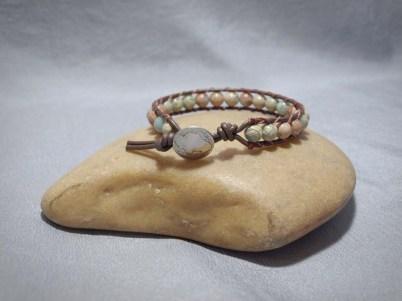 Single wrap bracelet 8mm African Opal