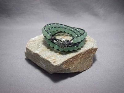 3 wrap bracelet 8mm Aventurine