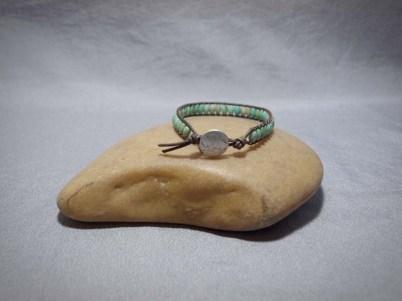 Single wrap bracelet Turquoise Rice