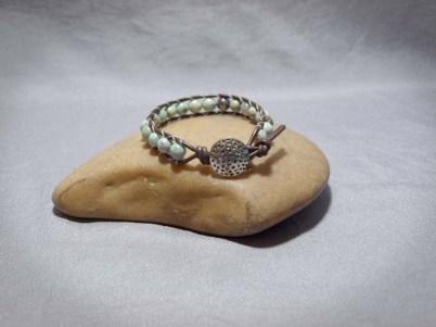 Single wrap bracelet 8mm Dragon Skin Jasper