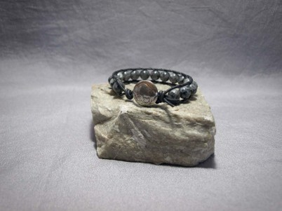 Single wrap bracelet 8mm Larvikite