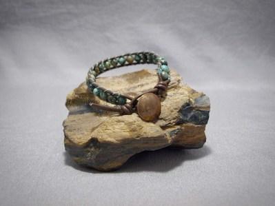 Single wrap bracelet 6mm African Turquoise