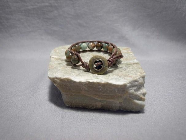 Single wrap bracelet 10mm African Opal