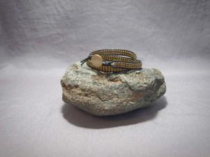 3 wrap bracelet Hematite Galvanized Gold