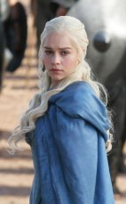 """Emilia Clarke (b.1987) - She is a British actress who only recently made her screen debut (in 2009) with one episode of the TV serie """"Doctors"""". A year later she starred in a movie made for television. Emilia didn´t know then that one year later she would be the star of TV´s superhit """"Game of Thrones"""" (2011-). She starres as the beautiful and courages Khaleesi, a true heroine. Emilia (who in the real world is a brunette) is currently filming the new Terminator movie where she plays Sarah Connor."""